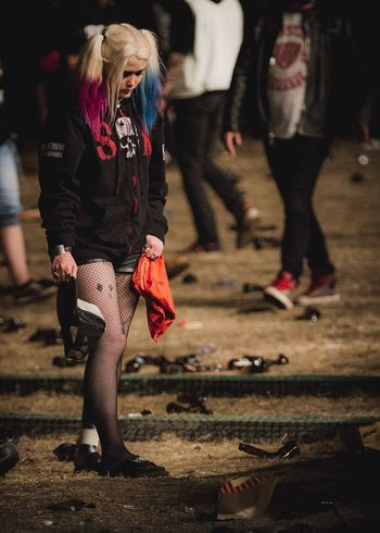 A Bird For A Bird, Jen! 😜 | Fashion Focus On Foreground Stockings Full Length Women Human Leg Lifestyles Real People Fashion Show One Person Night Low Section Adult Outdoors Warm Clothing People Close-up Young Adult Adults Only Harley Quinn Sweden Rock Festival