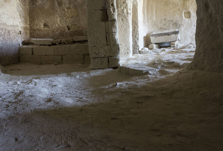 Matera Italy Unesco UNESCO World Heritage Site Cave Grotto Grotta Architecture No People Indoors  Day Old Wall - Building Feature Built Structure Water Entrance Aquatic Sport Nature Sea Motion Building Land History Wall