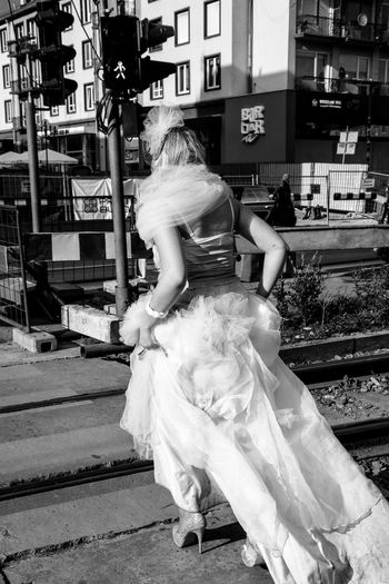 Another love Wedding Dress People Couple - Relationship Monochrome Photography Street Photography Running Away Love Hurts Bride No Love Outdoors Human In Town Street Woman Urbanphotography Urban