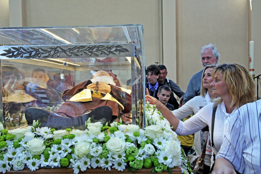 Welcome of St.Leopold Mandic's body in Zagreb,relics,14,roatia,EU,2016. Belief Body Catholicism Christianity Church Croatia Eu Pilgrim Pilgrimage Religion Saint St.Leopold Bogdan Mandic Welcome Zagreb