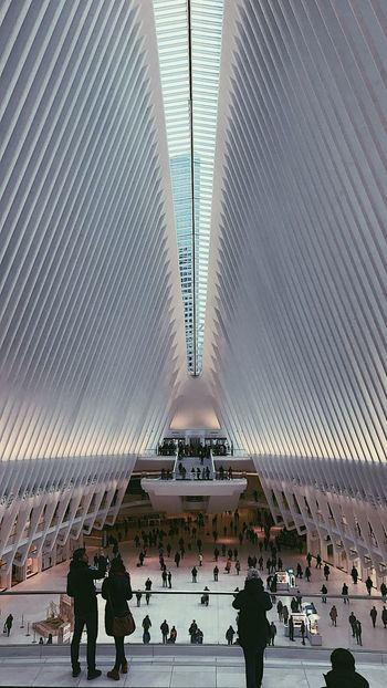 westfield world trade center Lines NYC Photography NYC Westfield World Trade Center Mall Large Group Of People People Architecture Adults Only Indoors  Adult Day
