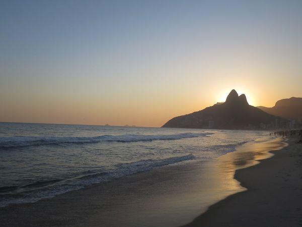 Ipanema Sunsets Rio De Janeiro Beach Nature Sea Sunset