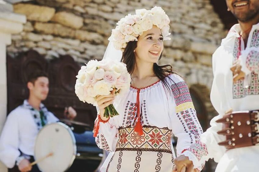 Republic Of Moldova National Dress Happiness Moldoviangirl National Wedding Nature