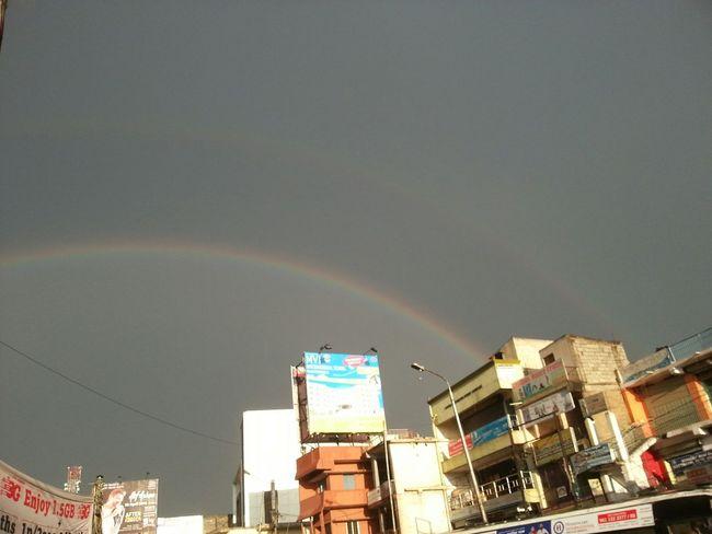 Beautiful double Rainbow at Marathahalli First Eyeem Photo