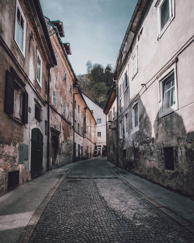 Old Streets Alley Architecture Building Building Exterior Built Structure City Cloud - Sky Cobblestone Day Diminishing Perspective Direction House Long Nature No People Old Outdoors Residential District Sky Street The Way Forward Town Window
