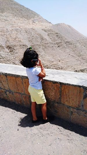 Children Only People ChildhoodChild Travel Destinations One Person Standing Full Length One Girl Only Outdoors Day Sand EyeEm Vision Vacations Boys Desert Girls Nature Sky Adult