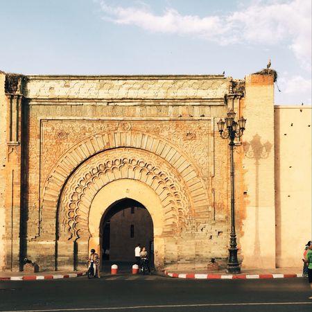 Summer Travel Medina Morocco Entrance Architecture Marrakech Door