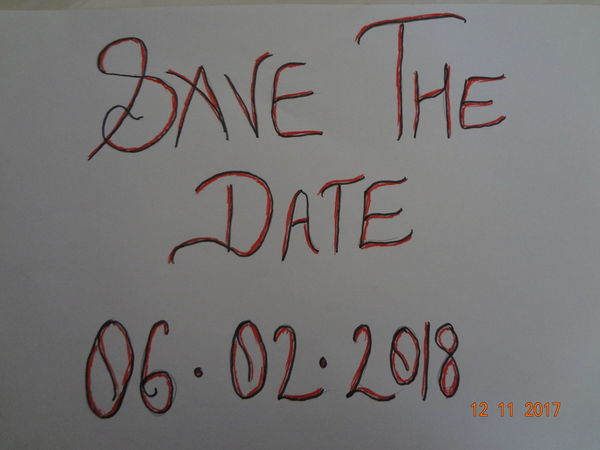 Save The Date Close-up Communication Day Handwriting  Indoors  Message No People Paper Text