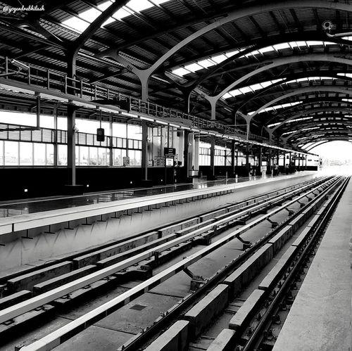 Metro Railroad Station Transportation Indoors  Public Transportation Train - Vehicle Railroad Station Platform Railroad Track Rail Transportation No People Day Bangalore Nammabengaluru Nammametro First Eyeem Photo