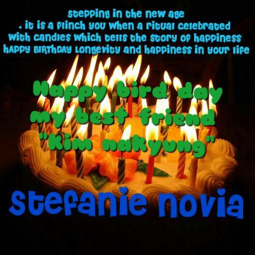 Happy b'day nakyung... wish u all the best ;) stefanie novia