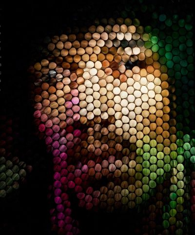 Multi Colored Backgrounds Abstract Defocused Close-up One Person Headshot Purple Human Face Blurred Blurry Portrait Manipulation Pattern Full Frame Strawcamera Art Experimental In Camera Circles Of Confusion Circles Looking At Camera