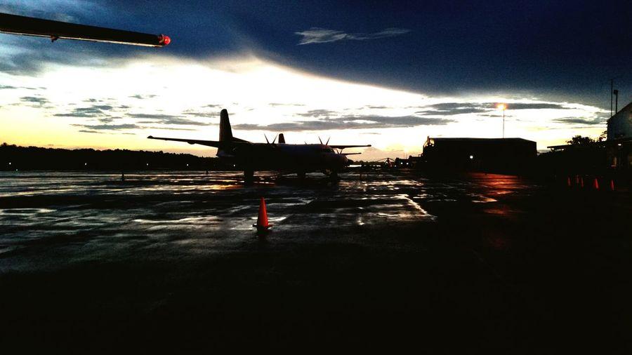 Dawn at Madang Airport, Papua New Guinea