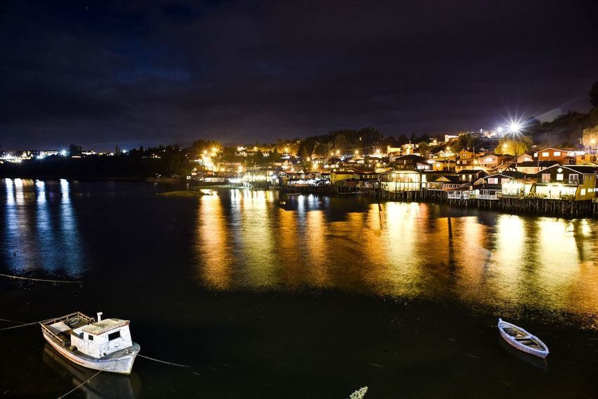 Castro, Chiloé Chile Chilöe Castro Nightphotography Night D750 Nikond750 Nikon Night Water Building Exterior Built Structure Architecture Nautical Vessel Sky Illuminated Outdoors Reflection No People City Nature Waterfront River Colour Your Horizn Colour Your Horizn