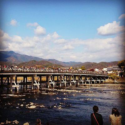Kyoto Kyoto Arashiyama Togetsukyou 渡月橋 Japan Bridges Fall