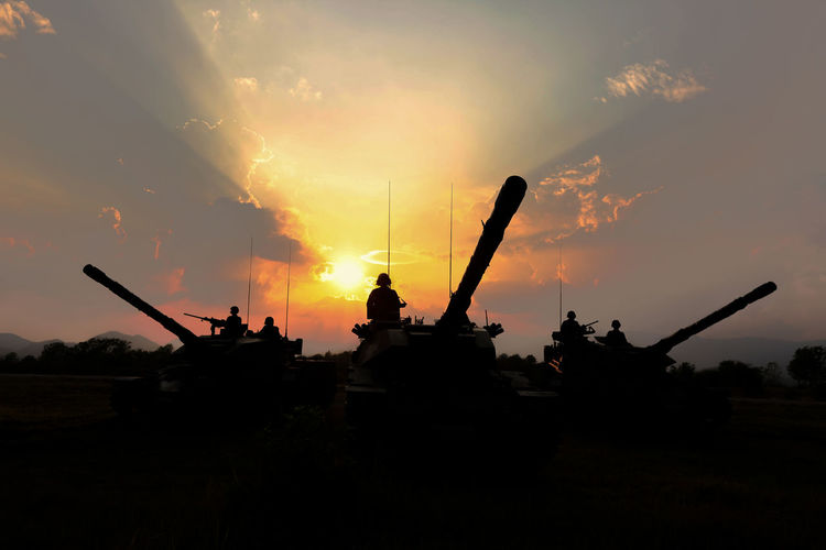 Tank with sunset Time Fight Sunset_collection Tanks Aggression  Armed Forces Armored Tank Army Army Soldier Cloud - Sky Conflict Fighting Government Gun Military Mode Of Transportation Nature Orange Color Protection Silhouette Sky Sunset Tank Transportation War Weapon