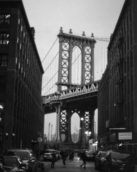 New York New York Urban Filmisnotdead Film Photography Blackandwhite New York Architecture City Bridge
