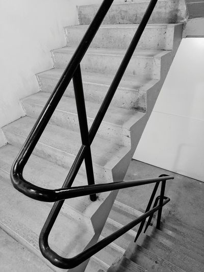 No People Close-up Indoors  Day Stairs Staircase Handrails Handrail Metal Handrail Shadows