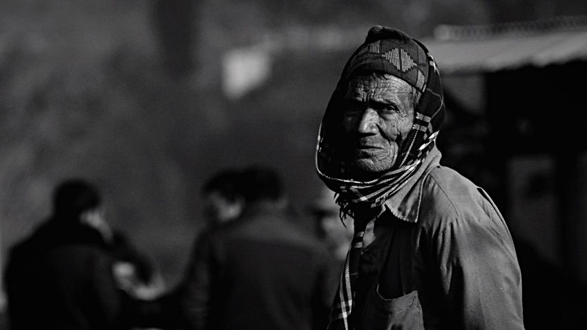 City Nepal The Lamp Mission Mystery Old Man Black And White People