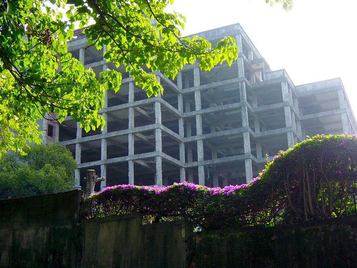 Architecture Blooming Building Building Exterior Built Structure Empty Structure Façade Flower Green Color Tree Your Design Story Beitou Taiwan