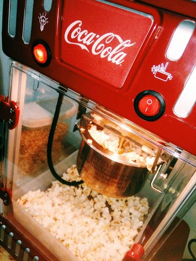 Time for Popcorn Popcorn MOVIE Food Tasty Vintage Cocacola Popcornmachine Red Illuminated first eyeem photo
