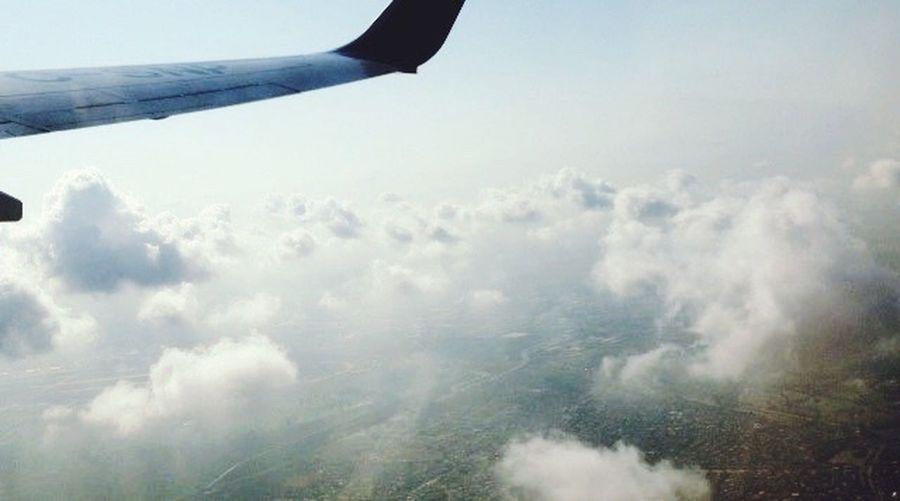 Flying Airplane ✈️☁️🌚🌍 First Eyeem Photo