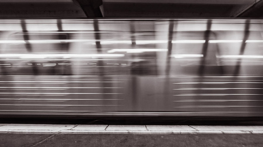 Arrival of the subway Hamburg Black And White Blackandwhite Blackandwhite Photography Blurred Motion Day Indoors  Land Vehicle Long Exposure Mode Of Transport Motion No People Passenger Train Public Transportation Rail Transportation Railroad Station Railroad Station Platform Silver - Metal Speed Subway Subway Station Subway Train Subwayphotography Train - Vehicle Transportation EyeEmNewHere