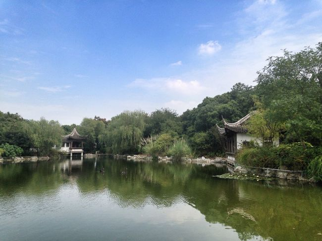 According to legend,in more tthan 2400years ago,Fan Li and Xi Shi in seclusion there Lake Water Landscape Blue Sky Green EyeEm Best Shots EyeEm Nature Lover History