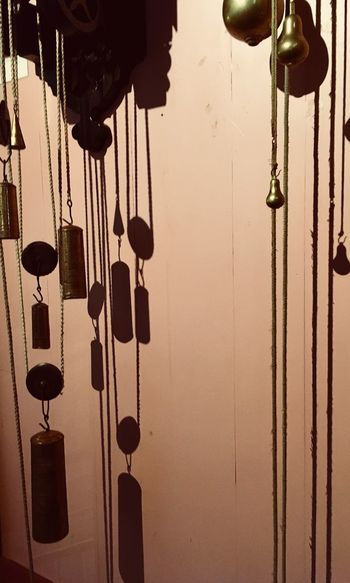 Hanging No People Chain Close-up Indoors  Day Clocks Pendulums Pendulum Clock Shadows & Lights Patterns On The Wall Clock Museum Netherlands