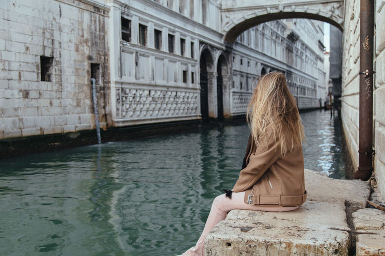 Ana Paula Tondin in Venice, Italy Adult Adults Only Architecture Blond Hair Building Exterior Built Structure City Day Gondola - Traditional Boat Long Hair Nature One Person Outdoors People Real People Travel Destinations Water Women Young Adult Young Women