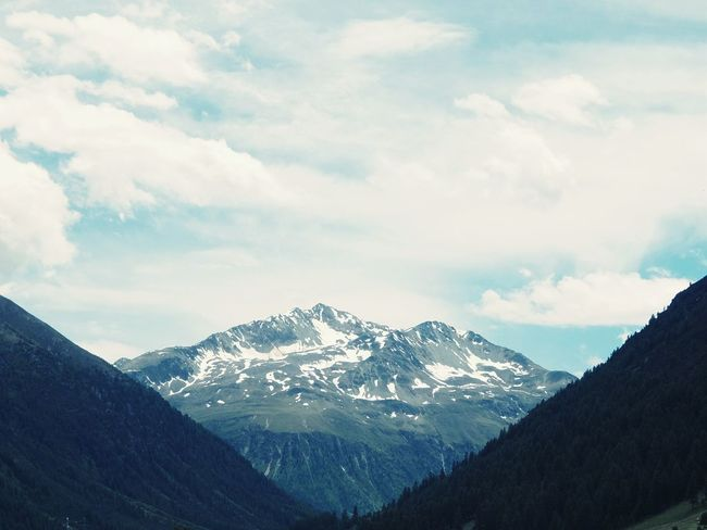 Livigno Valtellina Mountains Alps Clouds Kodachrome Fujifilm