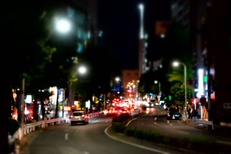 Road Nightphotography ぼんやり風