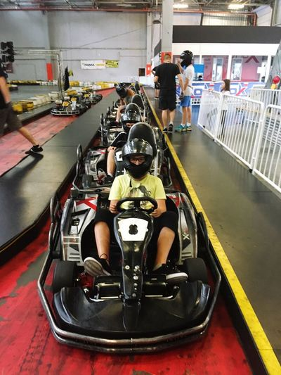 Go Kart Go Karting Sitting Travel Real People Full Length Indoors  People Day Adults Only Adult