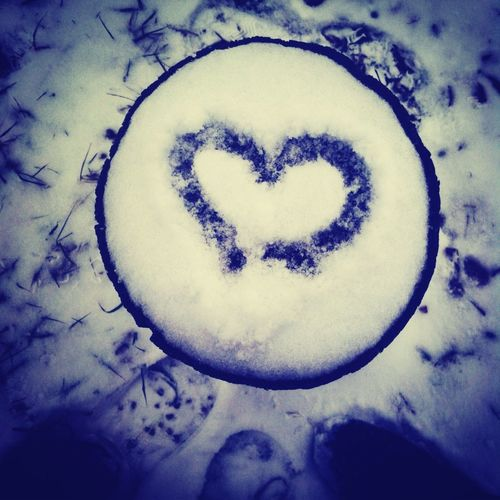 #snow #heart #saturday