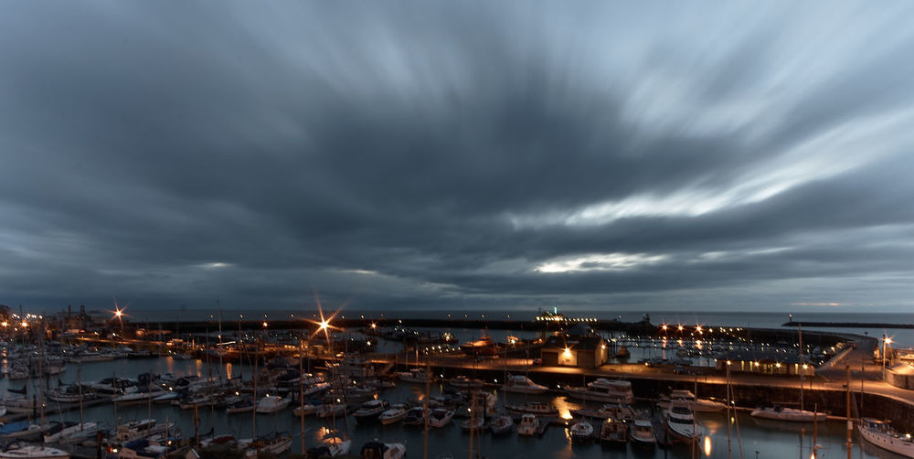 Big Sky Boats Dawn Harbour Lights Ramsgate