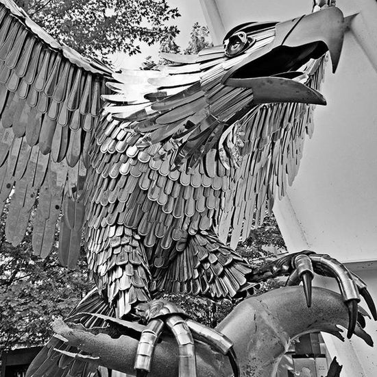 Because metal birds of prey. Artprize Grandrapids Michigan