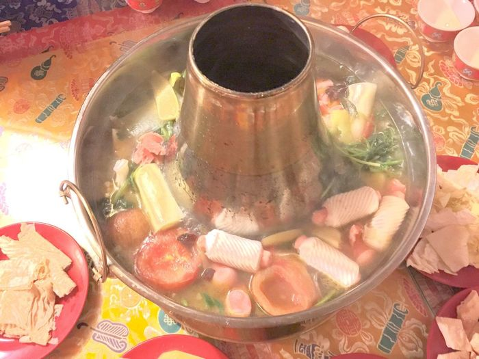 Steaming hot pot Tibet Tibetan House Tibetan Food Hot Pot Steaming Chafing Dish Plates Little Dishes Culture Traditional Local Favorite Food Tea Tableware Tablecloth Cups Bowls Chopsticks Dinning Travel Indoors  Experiment Colour Of Life Color Palette