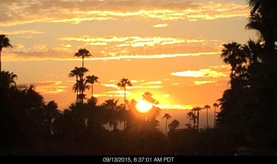 Sunrise this morning in Palm Desert, Ca