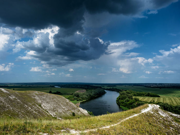 Russia, Voronezh region, Voronezh limestone mountains, the river don Russia Travel Voronezh Limestone Mountains Voronezh Region Beauty In Nature Cloud - Sky Day Grass Horizon Over Water Landscape Leisure Limestone Mountains Nature No People Outdoors Scenics Sea Sky The River Don Tranquil Scene Tranquility Vacation Water