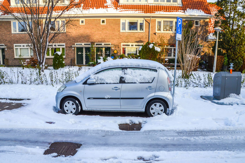 Car Under Snow In Betondorp Amsterdam The Netherlands Amsterdam Netherlands Betondorp Car No People Outdoors Snow Winter