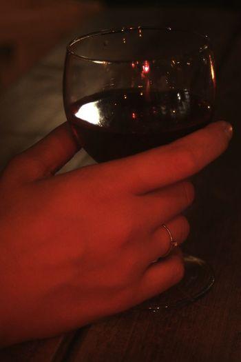 Hand Wine Red