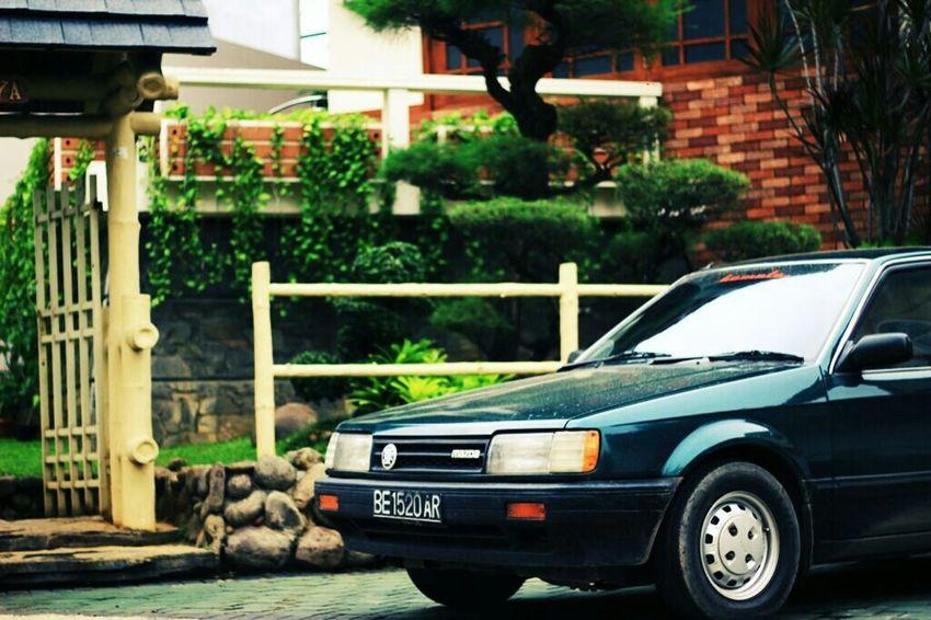 Throwback MazdaMazda323 Japanese Style Retro Classic Car Retrocar EyeEm Best Shots Original Look Eyemphotography Green