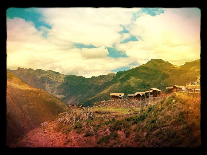 Mountain Peru Village PÉROU Inca Town Village De Montagne