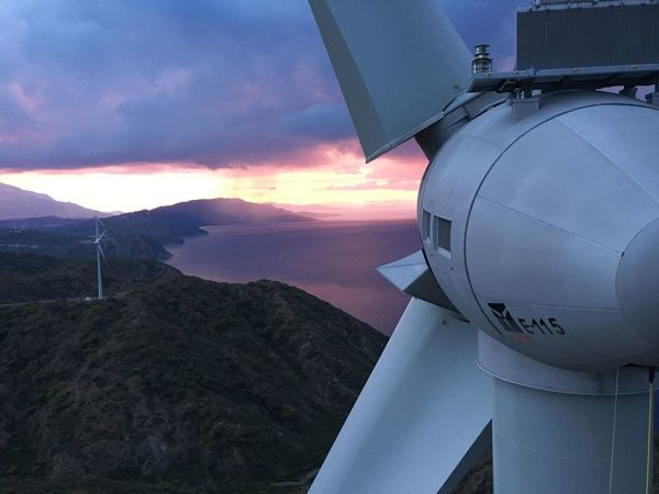 Datça Mugla Turkey Enercon Windturbines Windwill Cloud - Sky Air Vehicle Airplane Sky Mountain Nature No People