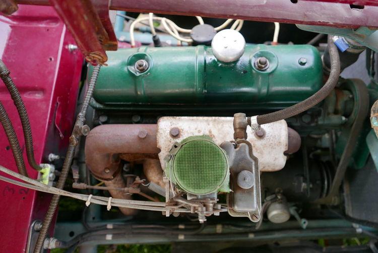 1939 Ancient Car Close-up Details Engine France No People Peugeot The Past Transportation