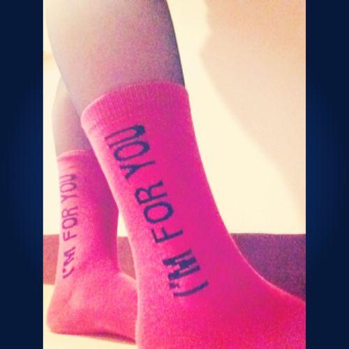 Pink Socks Cute Happy