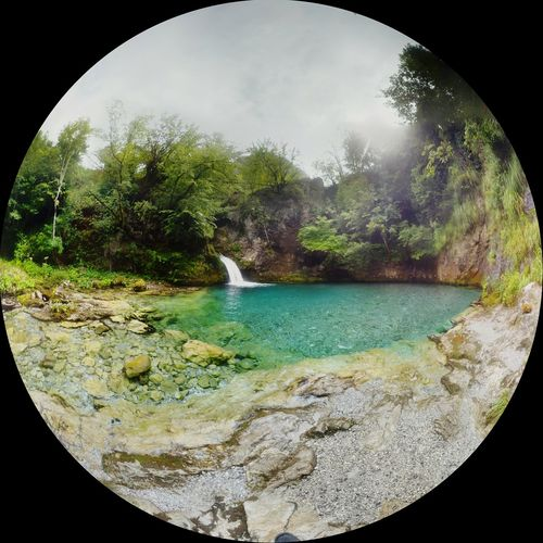 From My Point Of View Fisheye Explore Albania Nature Blue Eye Theth Travel Photography Getting Inspired