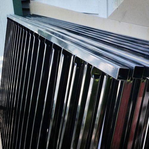 New Fence step 2, 10x 8 foot lengths of steel 2 rail panels. GoingToBeALongWeekend Sweatequity