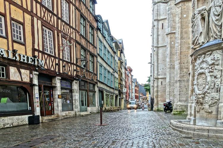 Joan Of Arc Tourists Destination Patriotism Outdoors Rouen, France cobblestone