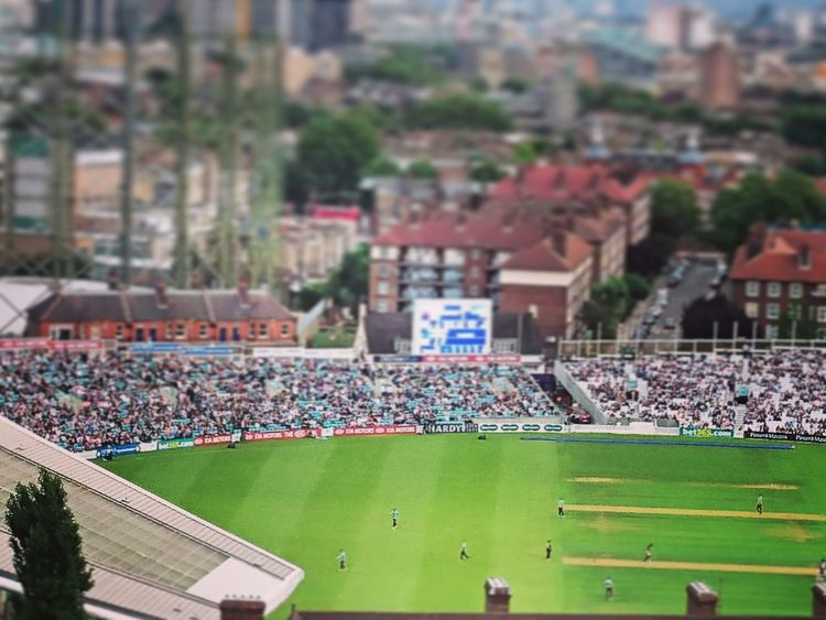 Cricket! Cricket Ground Oval Toy City London Panoramic Photography Fine Art Photography Macro Photography Macro City