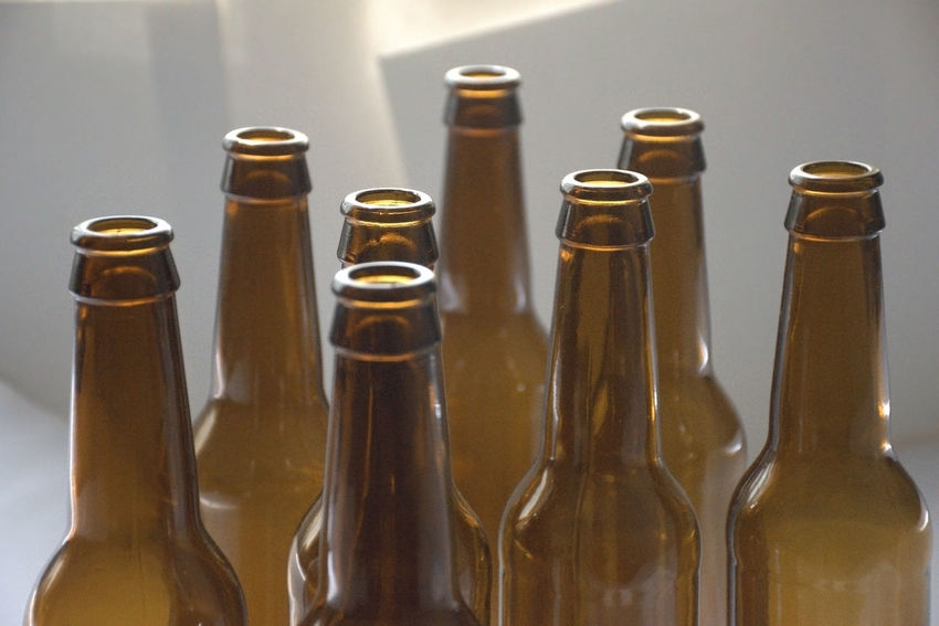 Glass beer bottles close-up view Alcohol Beer - Alcohol Beer Bottle Bottle Close-up Food And Drink Glass Glass - Material Group Of Objects Recycled Materials Recycling Refreshment Studio Shot